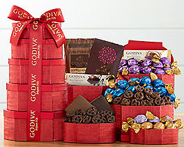 Suggestion - Godiva Red and Gold Valentine's Chocolate Tower Original Price is $99.95