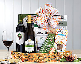 Suggestion - California Red and White Wine Gift Basket Original Price is $120