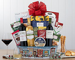 Suggestion - Holiday Red and White Wine Trio Gift Basket