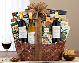 Suggestion - Wine, Cheese and Chocolate Gift Basket