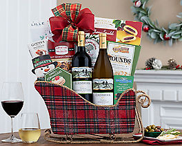 Suggestion - California Red and White Wine Holiday Sleigh