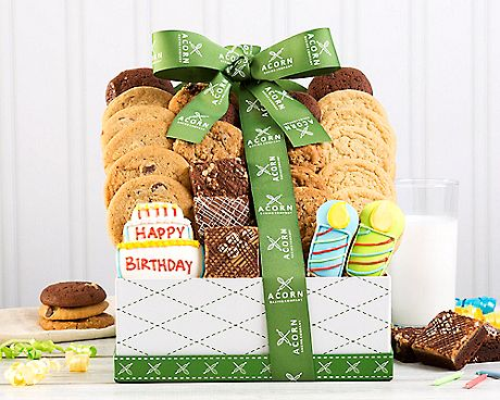 DELUXE HAPPY BIRTHDAY COOKIE COLLECTION GIFT BASKETS