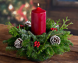 Suggestion - Pillar Candle Holiday Centerpiece