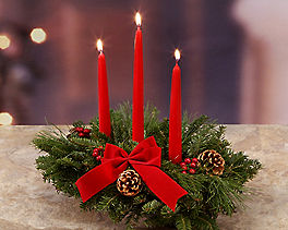 Suggestion - Classic 3 Candle Centerpiece