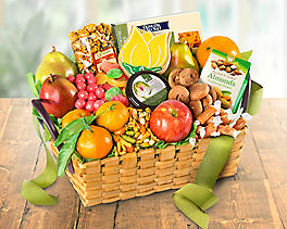 Suggestion - Gourmet Snacks and Fruit Gift Basket