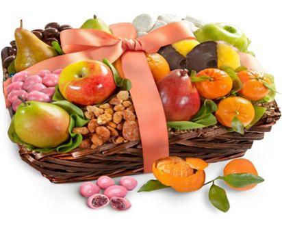 Deluxe Fruit & Sweets Gift BasketDeluxe Fruit & Sweets Gift Basket ...