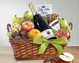 Suggestion - Organic Napa Cider, Fruit and Cheese Gift Basket Original Price is $150.00