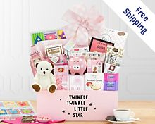 Hello Baby - Pink Gift Basket  Free Shipping