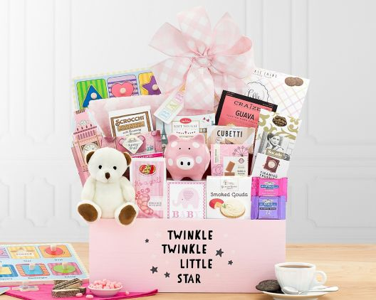 Welcome Home Baby Girl Gift Basket at Wine Country Gift Baskets