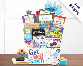 Get Well Soon Gift Basket  Free Shipping