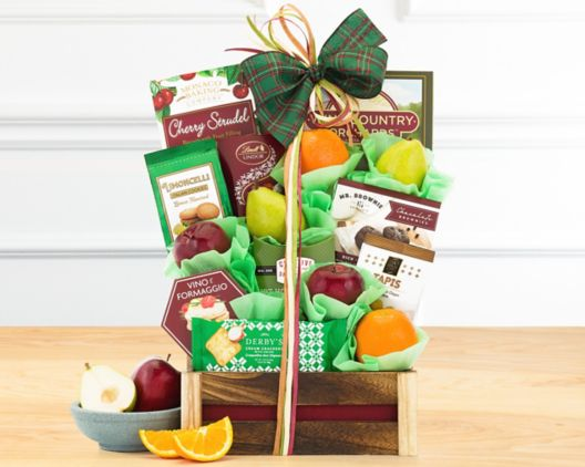 wine country fruit and favorites gift basket at wine country gift