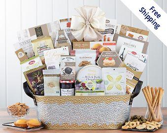 Item 526 - Many Thanks Gourmet Gift Basket FREE SHIPPING