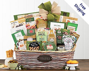 Many Thanks Gourmet Gift Basket Gift Basket  Free Shipping