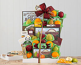 Suggestion - Deluxe Fruit and Favorites Gift Basket