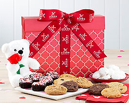 Suggestion - Valentine Bear, Cookie and Brownie Gift Collection