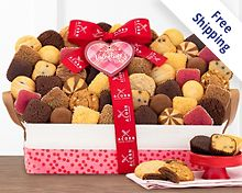 Happy Valentine's Day Bakery Collection Gift Basket  Free Shipping