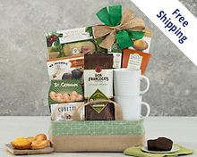 Coffee, Tea and Cocoa Gift Basket Gift Basket Free Shipping