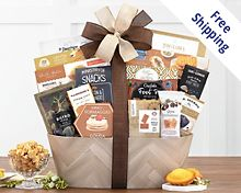 Sympathy Basket Gift Basket  Free Shipping