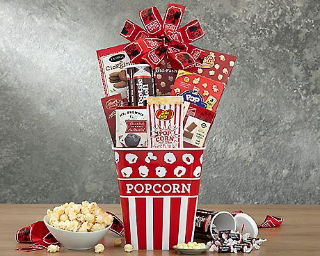 Movie Night Popcorn and Candy Collection Gift Baskets