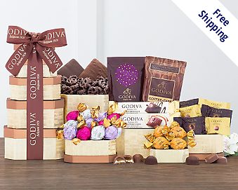 Godiva Milk and Dark Chocolate Tower Free Shipping