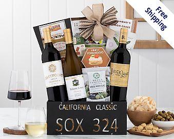 California Classic Trio Gift Basket Gift Basket  Free Shipping