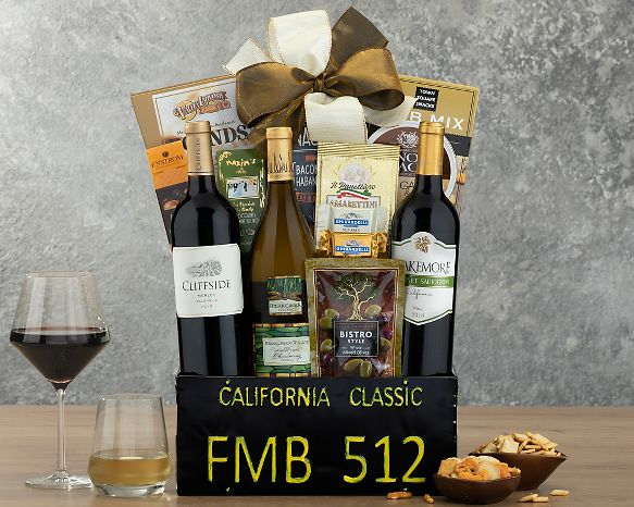 California Classic Gift Basket At Wine Country Baskets
