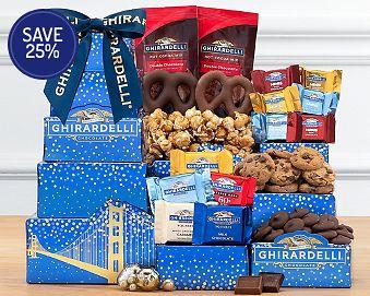 Ghirardelli Tower Gift Basket 25% Save Original Price is $29.95