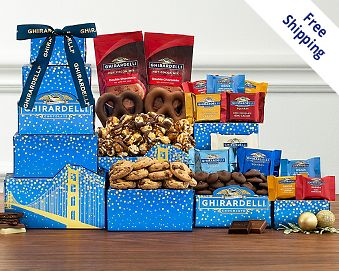 Ghirardelli Tower Gift Basket  Free Shipping