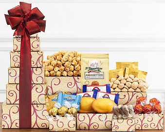 Chocolate and Sweets Tower Gift Basket