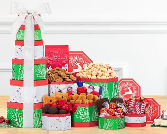'Tis the Season Holiday Gift Tower Gift Basket