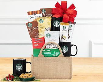 Starbucks Coffee and Teavana Tea Collection Gift Basket