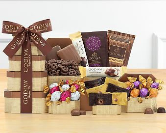Godiva Chocolate Gift Tower Gift Basket