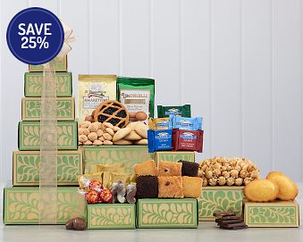 Tower of Treats Gift Basket 25% Save Original Price is $39.95