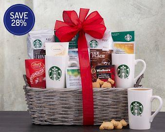 Starbucks Spectacular Gift Basket 28% Save Original Price is $125.00