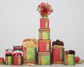 Holiday Favorites Tower Gift Basket