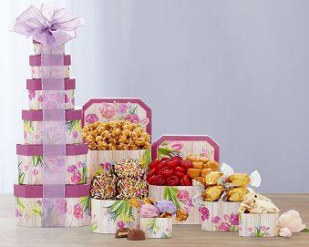 Summer Celebration Tower Gift Basket