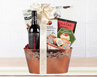 Thank You Red Gift Basket