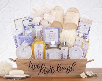 Lavender Vanilla Spa Experience Gift Basket