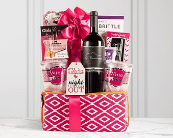 Girls Night Out Red Collection Gift Basket