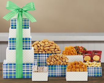 Cookie and Sweets Tower Gift Basket
