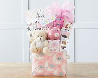 Oh Baby - Pink Gift Basket