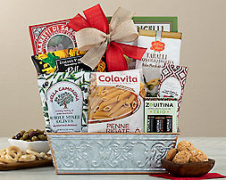 Wine Country Gift Baskets is a great place to find a package for anyone, whether it's for a special occasion or a simple thank you. As you look around at different collections, you'll see delicious products from Tazo, Ghirardelli and Piröuline.