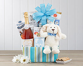 Suggestion - It's a Boy! Sparkling Rose Gift Basket
