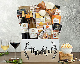 Suggestion - Thankful Red and White Wine Gift Basket