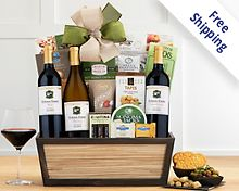 Cliffside Vineyards California Trio Wine Basket Gift Basket  Free Shipping