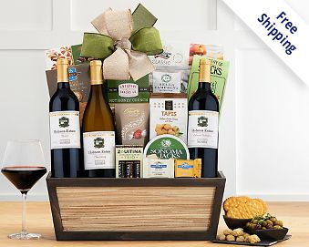 Hobson Estate California Trio Gift Basket Free Shipping