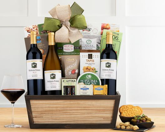 eastpoint cellars trio gift basket at wine country gift baskets