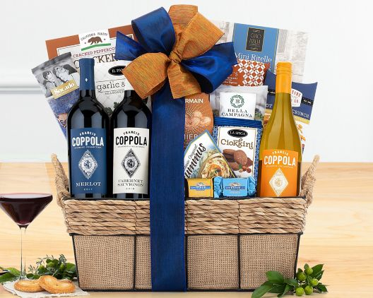 francis coppola diamond collection gift basket at wine country