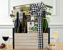 Suggestion - J Vineyards Sparkling, Red and White Wine Basket Original Price is $295.00