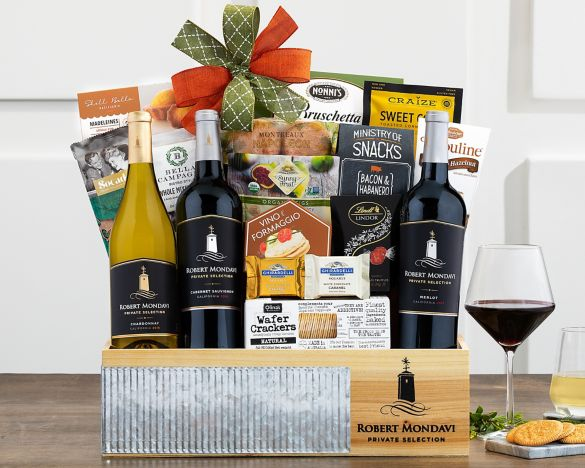 Robert mondavi private selection gift basket at wine country gift image2 negle Images